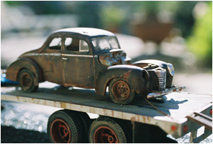 Photo: Rusty Ford Scale Model